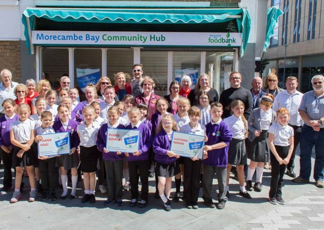 Morecambe Foodbank Gets Support From Major Lancaster And