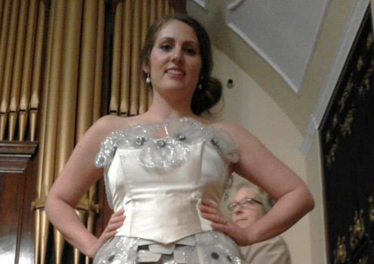 Lancaster Bowel Cancer Survivor Designs Ball Gown From Colostomy Bags To Raise Awareness Of Taboo Illness Lancaster Guardian