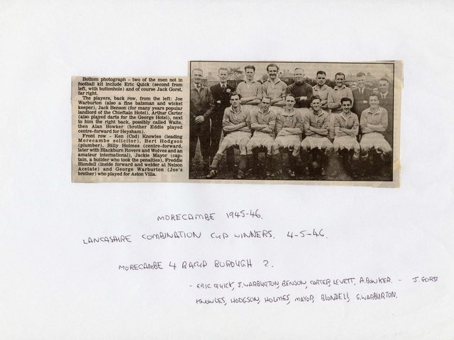 The Morecambe team of 1945/46