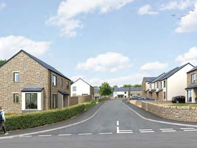 An artist's impression of the planned new homes in Halton. Photo: Russell Armer Ltd