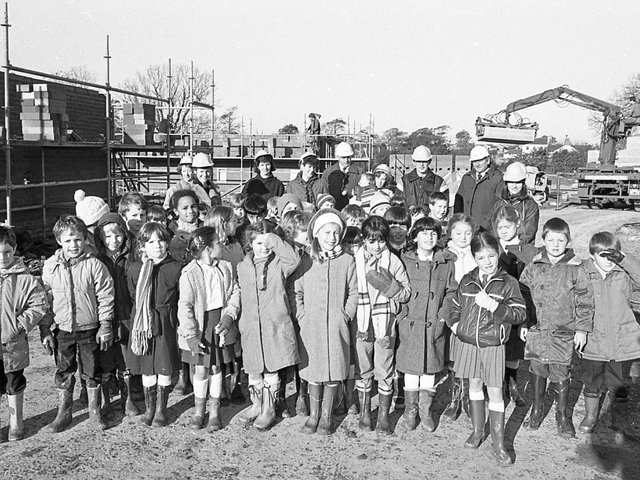 Young students donned their wellies to go on an unusual school outing - to a building site. And the guided tour of the development proved as popular as the more traditional days out to the zoo. Pictures are pupils of St Clare's Primary School, Fulwood, who visited the POCO homes site as part of a project on buildings