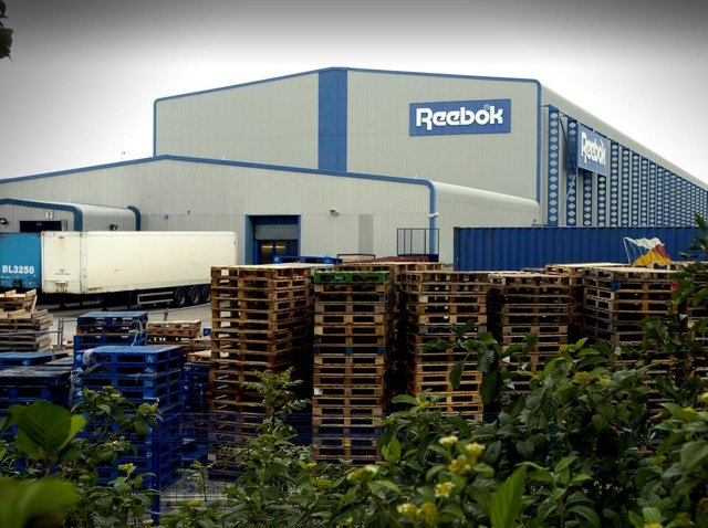 The Reebok building on White Lund pictured in 2009 before it closed.