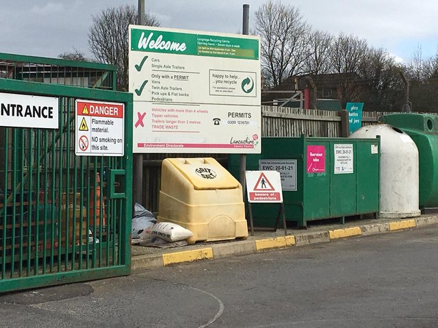 Longridge waste recycling centre is one of several across the county which will see its opening housr extended over Christmas and new year