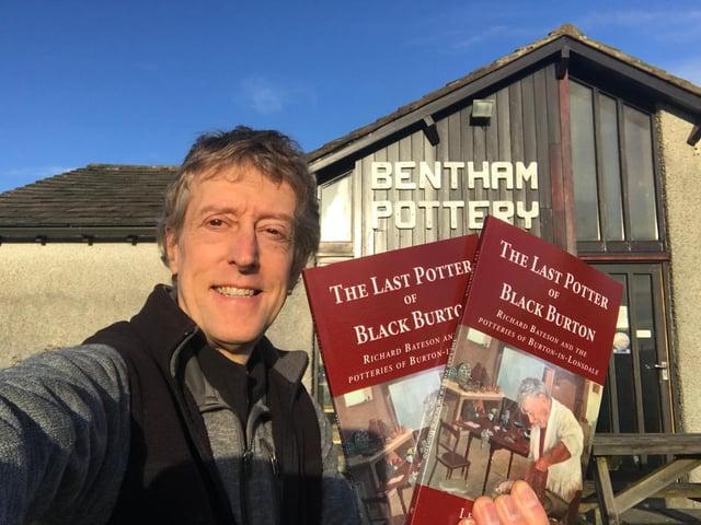 Author Lee Cartledge outside Bentham Pottery.