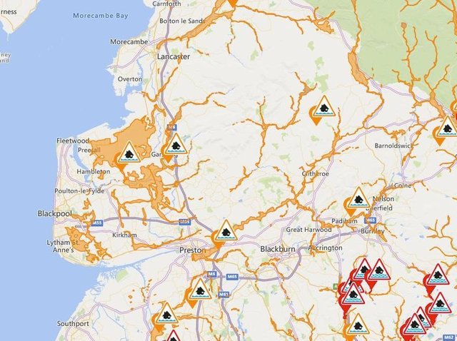 These are the latest alerts and warnings in place across Lancashire.