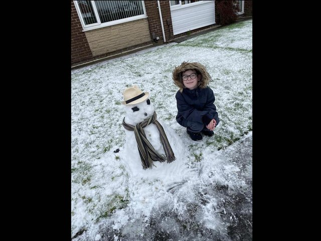 This fine looking snowman was sent in by Emma Millington