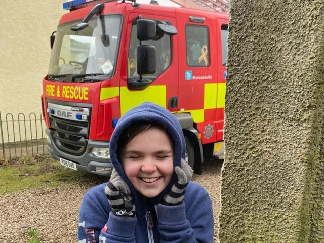 Lancashire Fire and Rescue joined in the noise last Wednesday.
