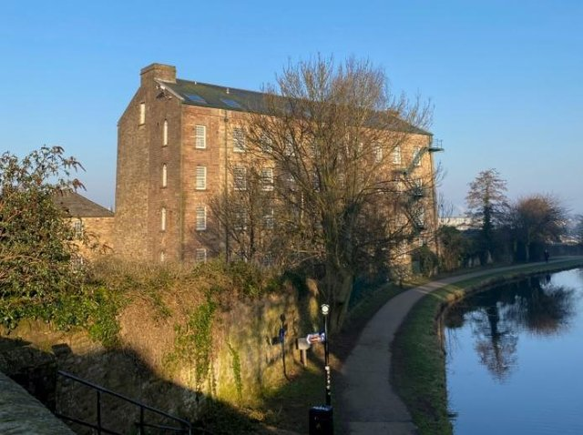 The former mill on Lancaster Canal which has been bought by Unipad.