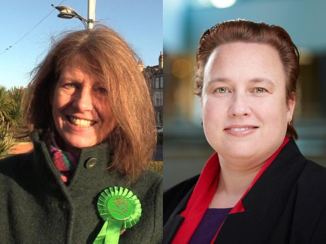 Cllr Gina Dowding, Lancaster City Council's cabinet member for sustainable neighbourhoods, and Cllr Erica Lewis, who leads the authority