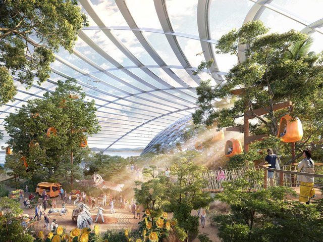 The first CGI artist's impression of the Eden Project North interior.