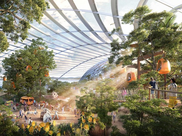 A new image of how Eden Project North in Morecambe could look.