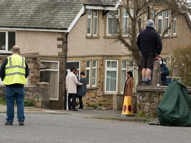 Filming begins in Heysham on the third series of The Bay. Photo by Janet Packham