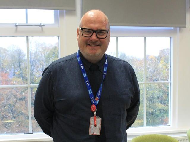 Nick Burnham, principal of Cardinal Newman College in Preston