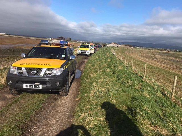 Morecambe Coastguard Rescue Team was called out to three incidents on Monday. Photo from Morecambe Coastguard Rescue Team Facebook