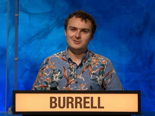 Owain Burrell on University Challenge on Monday. Image from BBC iPlayer