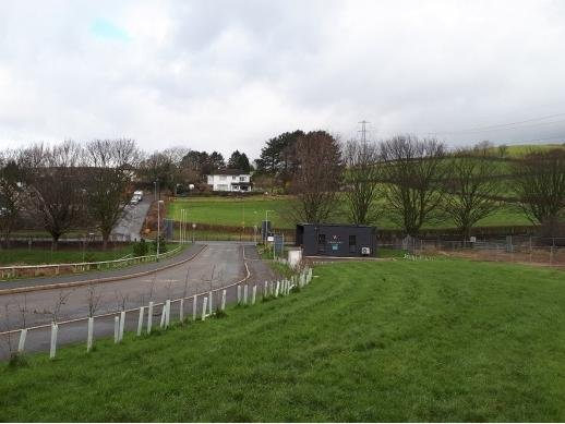 The site looking down on to Low Road, Halton.
