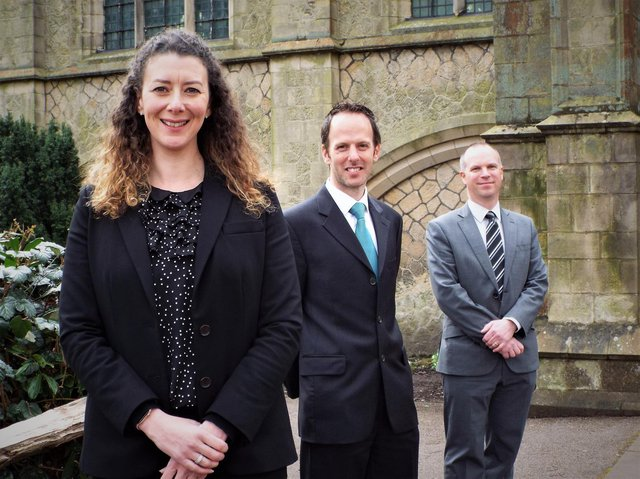 Pictured from left are principal Catherine Walmsley, chaplain Michael Reynolds and newly appointed vice-principal Ed Goddard, who joins the school from St Christopher's CE High School in Accrington.