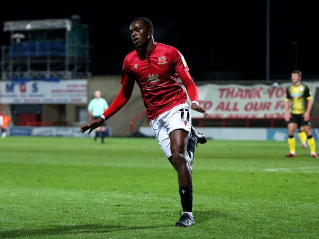 Carlos Mendes Gomes was again on the scoresheet for Morecambe