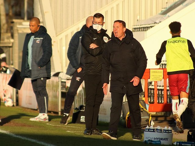 Derek Adams saw his Morecambe players win again on Saturday
