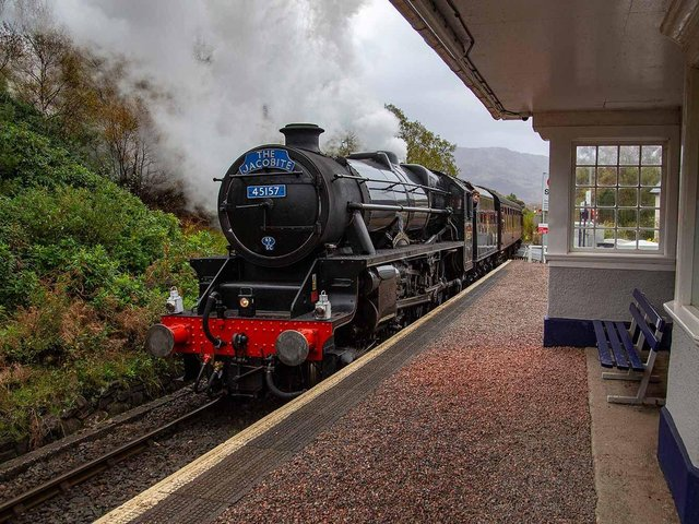 The Jacobite steamed through Lancaster last week.