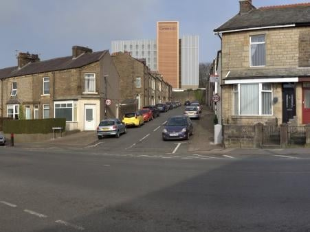 How the new tower would look from Bowerham Road looking up Havelock Street. Photo: Lancaster City Council