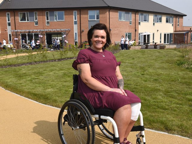 Laura Bacon was the VIP guest at the first birthday of the Sue Ryder Neurological Care Centre  in Fulwood  Photo: Neil Cross