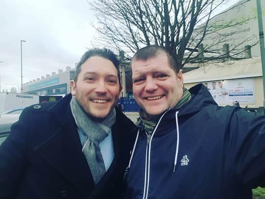 Jon and Martin at Elland Road.
