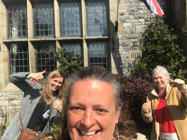 Green Close director Sue Flowers, Town manager Janet Nuttall and Phoenix Rising artist Danielle Chapel-Aspinwall met to visit Lunesdale Hall, where face-to-face workshops will take place after May 17 according to government regulations.