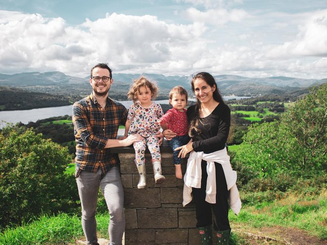 Ben Dale and his family, Emilia, Gabriela and wife Laura.