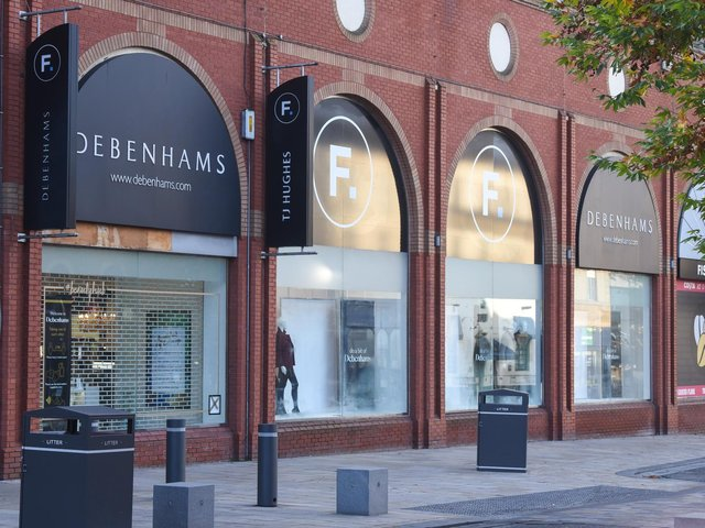 Preston Debenhams store at the Fishergate Shopping Centre