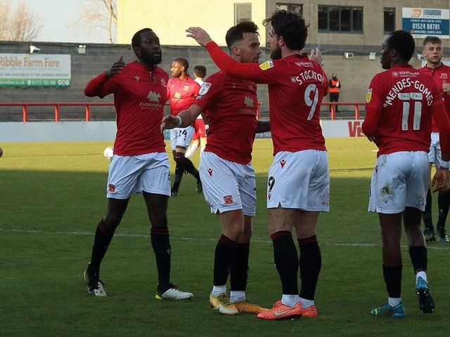 Morecambe's players have had plenty to celebrate this season