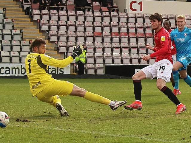 Liam McAlinden opened the scoring for Morecambe