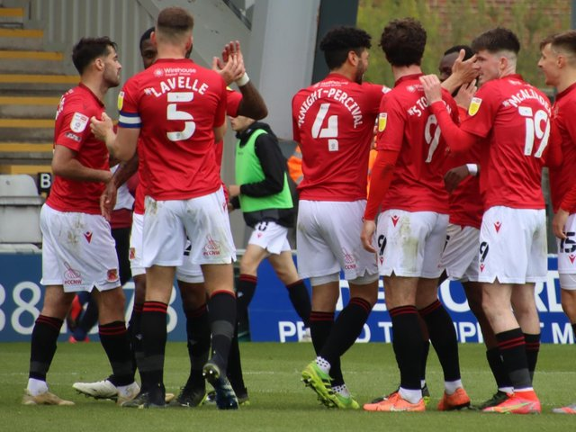 Morecambe's players face a play-off semi-final starting a week on Thursday