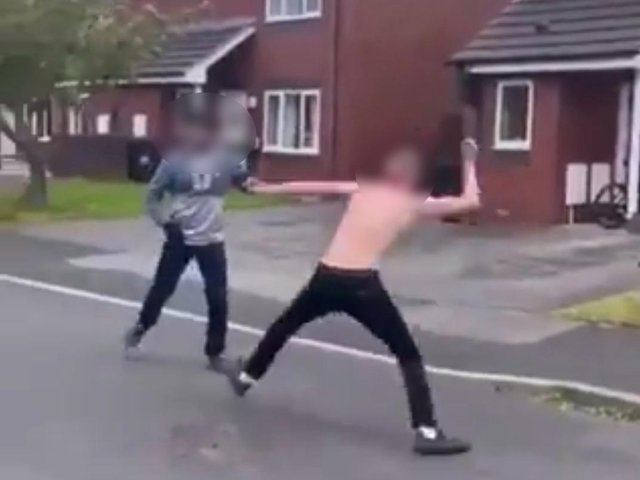 Morecambe machete fight was filmed and shared on social media.