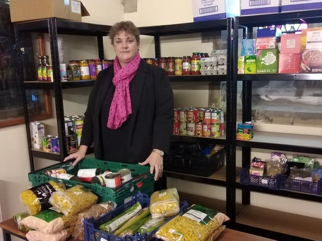 Kelly, the driving force behind the Pop up Pantry.