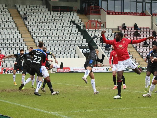 Morecambe hosted Tranmere Rovers in front of empty seats earlier this year