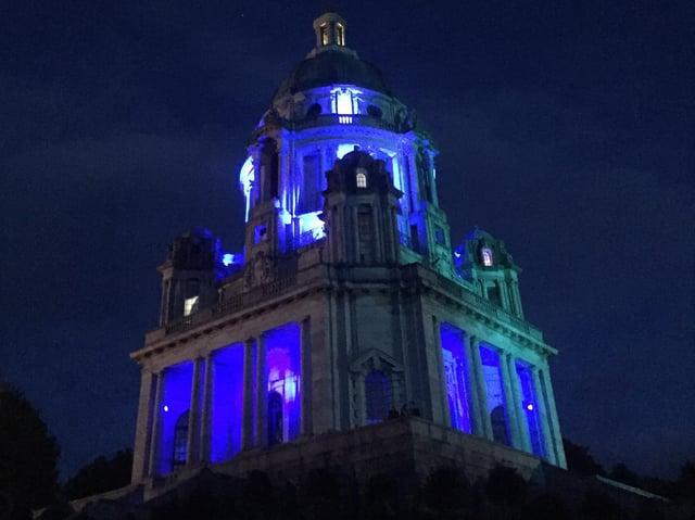 The Ashton Memorial will be lit up blue for ME awareness week.