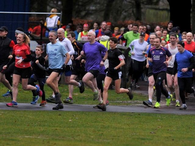 A Parkrun event in Haigh Woodland Park