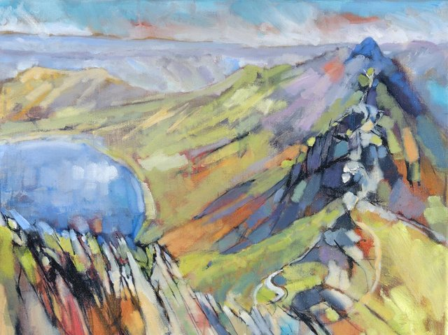 Patricia Haskey's painting of Helvellyn, the nation's favourite walk.