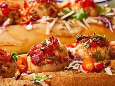 Booths Chilli Chicken Meatball Subs