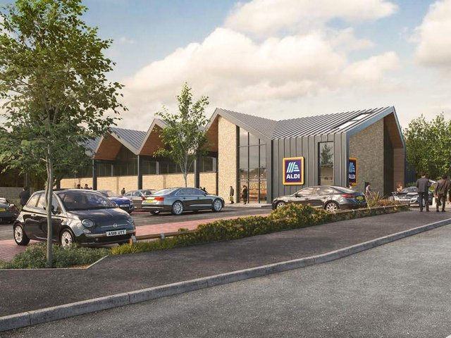 CGI image of how the proposed Aldi store in Scotforth may look. Picture by Aldi.