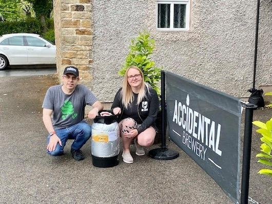 Mike Dent, from Accidental Brewery and Micropub, with Lynn Candlish, from Brewdog Carlisle.