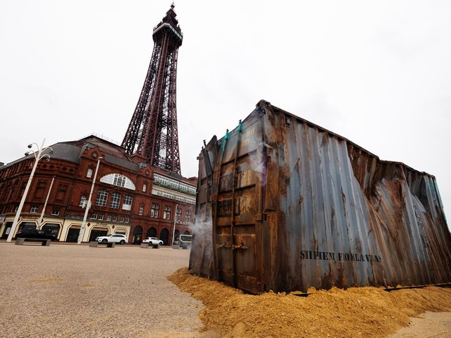 A container of zombies on Blackpool Promenade but have they escaped?