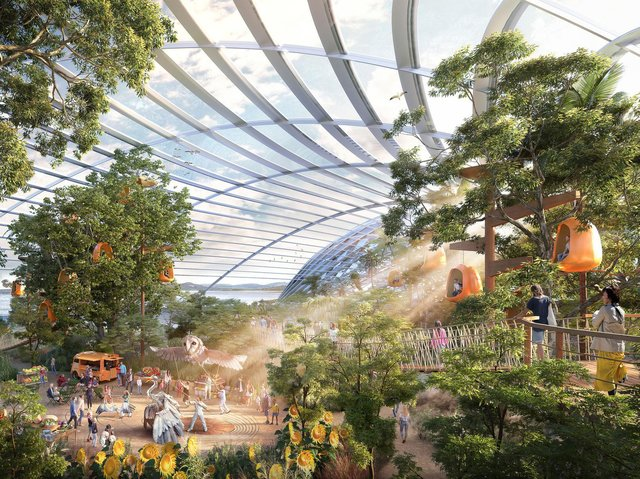 How the Eden Project North is expected to look inside.