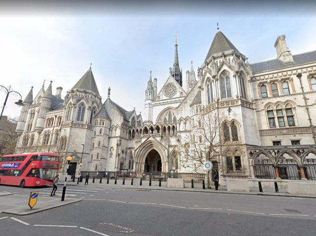 The Royakl Courts of Justice in London. Photo: Google Street View