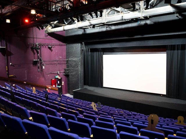 Social Distancing inside the main auditorium at The Dukes Lancaster. Photo: Kelvin Stuttard