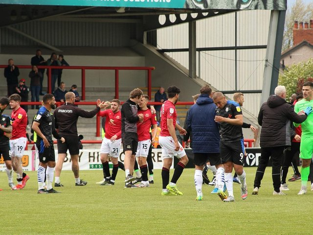 Morecambe's players and staff can look forward to a Wembley trip