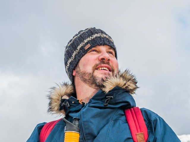 Author Mark Sutcliffe out walking