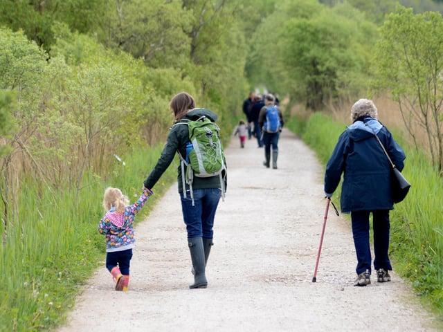 Family enjoying RSPB Leighton Moss. Photo: Darren Andrews.