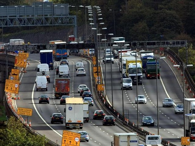 Motorway roadworks are planned for this weekend
